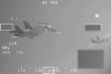 Міноборони оприлюднило відео перехоплення Російських Су-34 над Балтійським морем