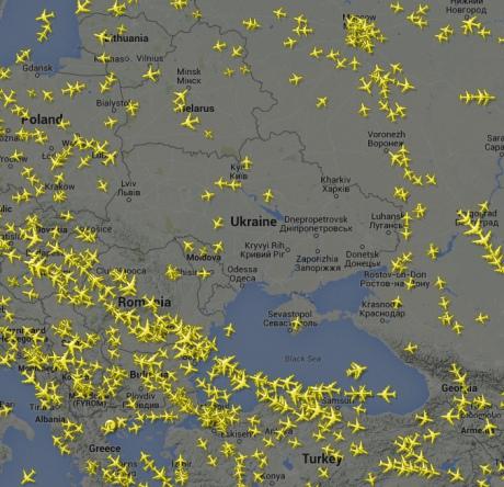 Повітряний простір над міжнародним аеропортом «Дніпропетровськ» закрито у зв'язку із загрозою теракту