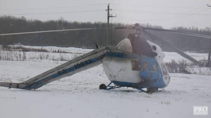 У Татарстані вертоліт, при посадці відірвав хвіст