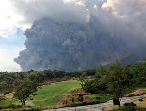 Из-за извержения вулкана аэропорт Гватемалы закрыт