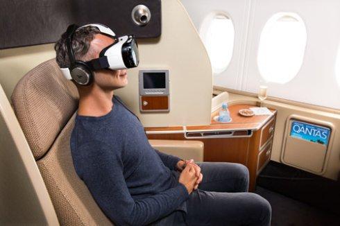 Пассажиров в самолетах окунут в виртуальную реальность