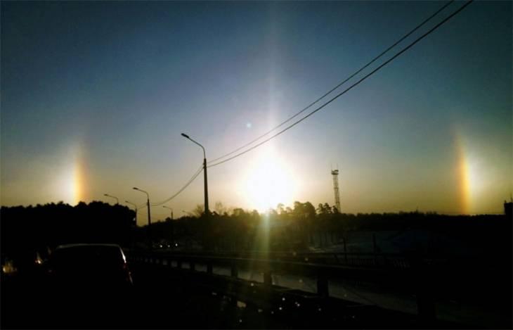 В небе над Челябинском взошло «три солнца» (ФОТО)