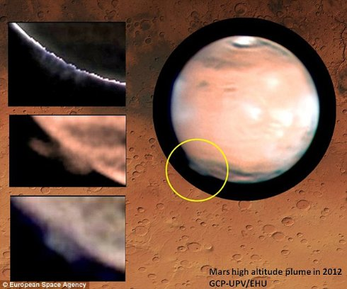 С Марса взлетело в космос огромное облако