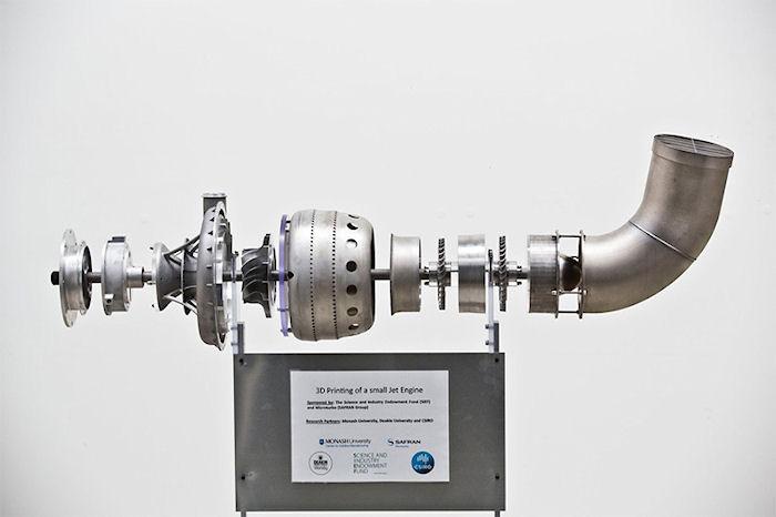На 3D-принтере распечатали реактивный двигатель