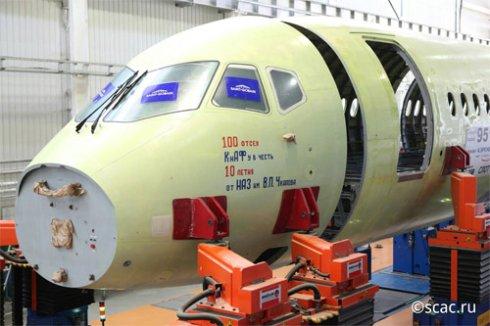 Сухой запустил в производство сотый Суперджет 100