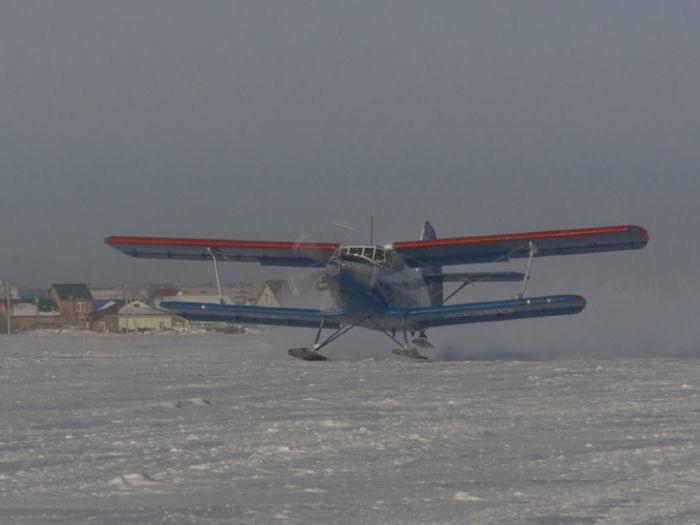 На ремоторизированный Ан-2 установили лыжи