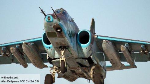 Белорусский военный самолет Су-25 упал из-за пожара на борту