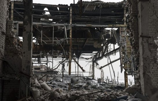 Российский блогер опубликовал фото разрушенного донецкого аэропорта