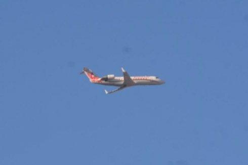 Низколетящий над Липецком самолёт приняли за падающий