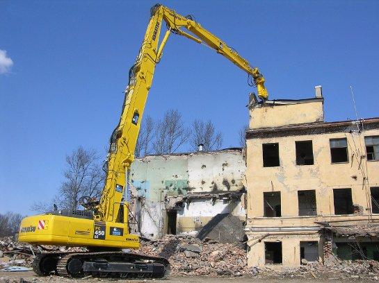 Строительная спецтехника для сноса зданий
