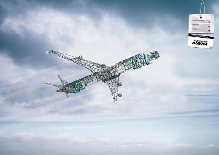 Высший пилотаж в рекламе компании, обслуживающей самолёты
