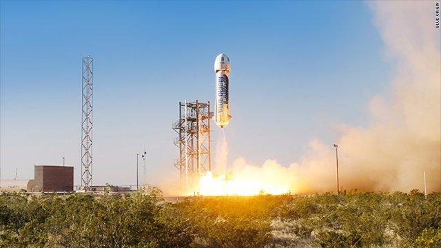 Основатель Amazon сообщил об успешном испытании новой ракеты-носителя New Shepard