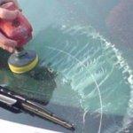 Удаляем царапины на стекле автомобиля