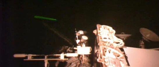 Уфологи увидели инопланетный дрон рядом с МКС (Видео)