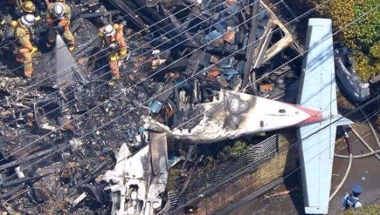 Токио: крушение самолета в жилом квартале, есть жертвы