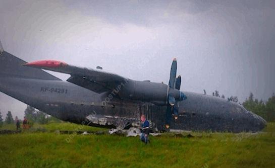В России разбился очередной военный самолет (Видео)