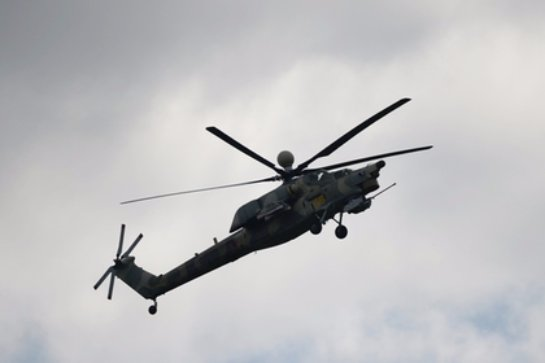 В России разбился военный вертолет