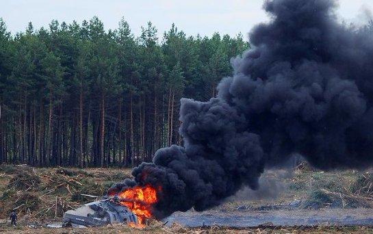 В сети появилось видео разбившегося под Рязанью военного вертолета (ВИДЕО)