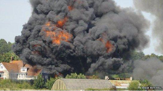 Появилась информация о жертвах катастрофы на авиашоу в Англии