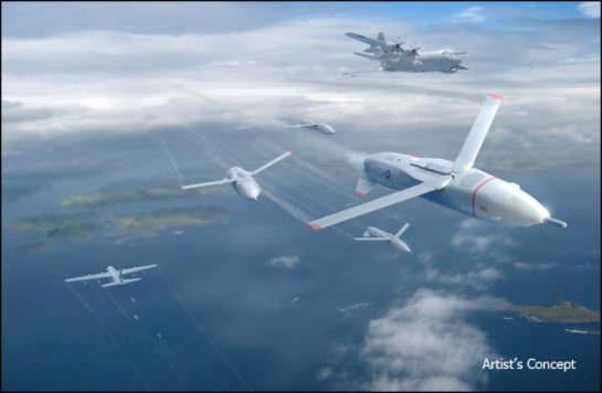 DARPA работает над военными дронами-«гремлинами»