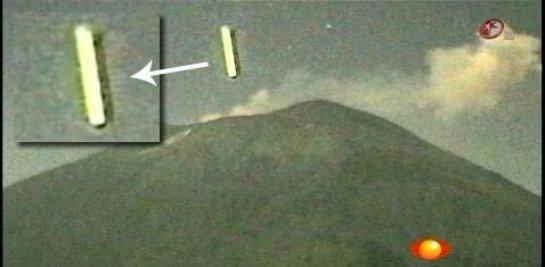 НЛО в Мексике следят за извержением вулкана (фото)