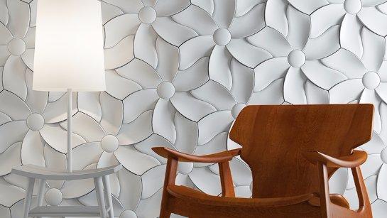 Использование рельефной керамической плитки в оформлении комнаты