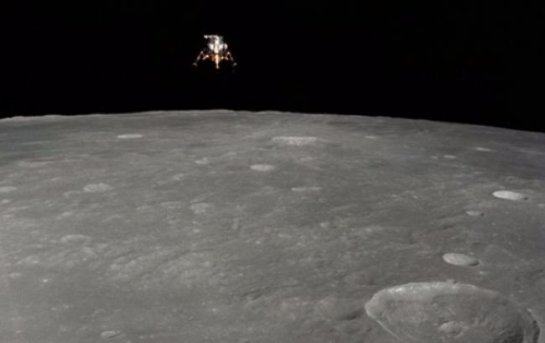 NASA показало исторический снимок посадки модуля на Луну