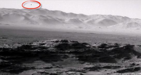 Над Марсом парит неизвестный объект (ВИДЕО)