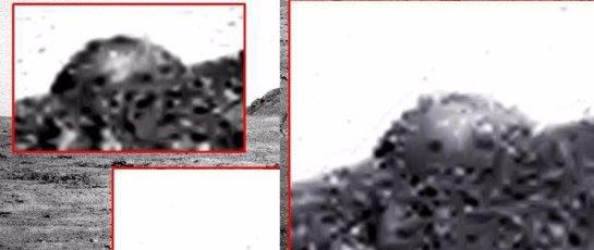 Уфологи увидели на Марсе купол с окнами (Видео)