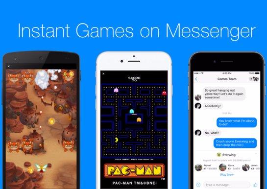 В мессенджере Facebook появились встроенные игры