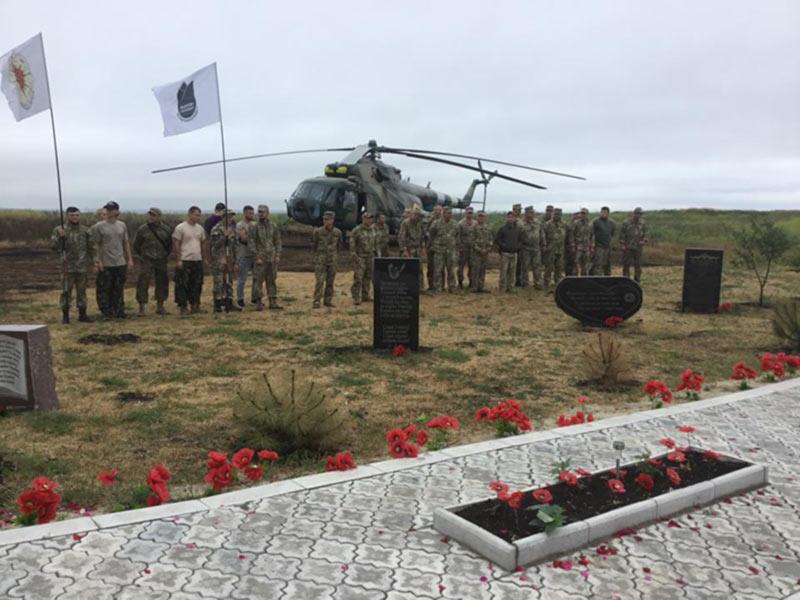 На горе Карачун почтили память погибшего экипажа Ми-8