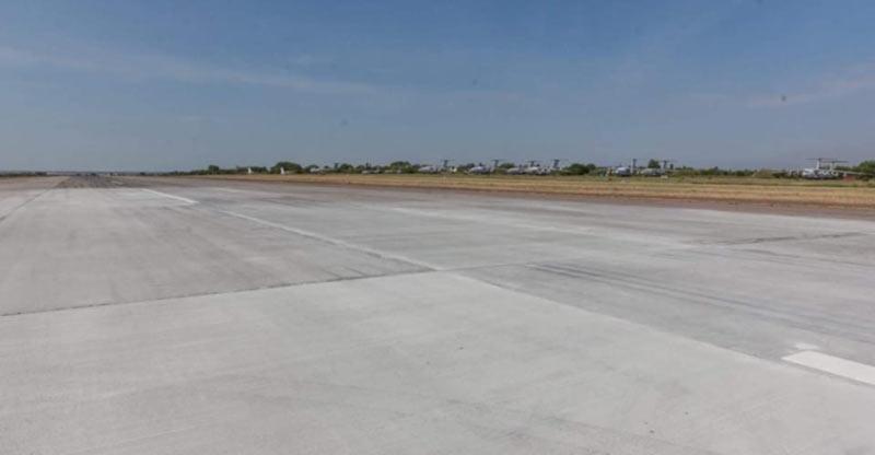 Запорожский аэропорт в срок завершил ремонт взлетно-посадочной полосы