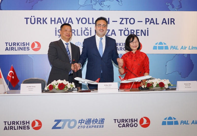 Turkish Airlines подписала договор о партнерстве с ZTO Express и PAL Air Ltd.