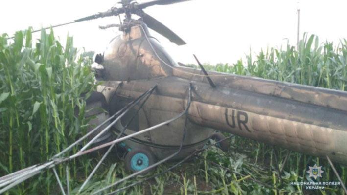 Ми-2 оставил без света несколько сёл в Черниговской области