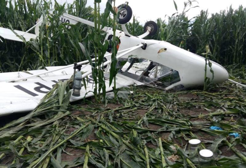 В Сумской области разбился самолет. Пилот погиб.