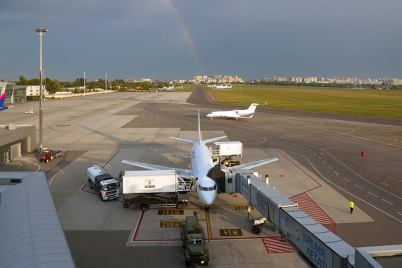 Аэропорт Киев опубликовал статистику за август