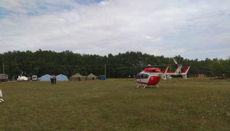 Вертолет спасателей перевез из Умани в Киев еврейского паломника с инфарктом