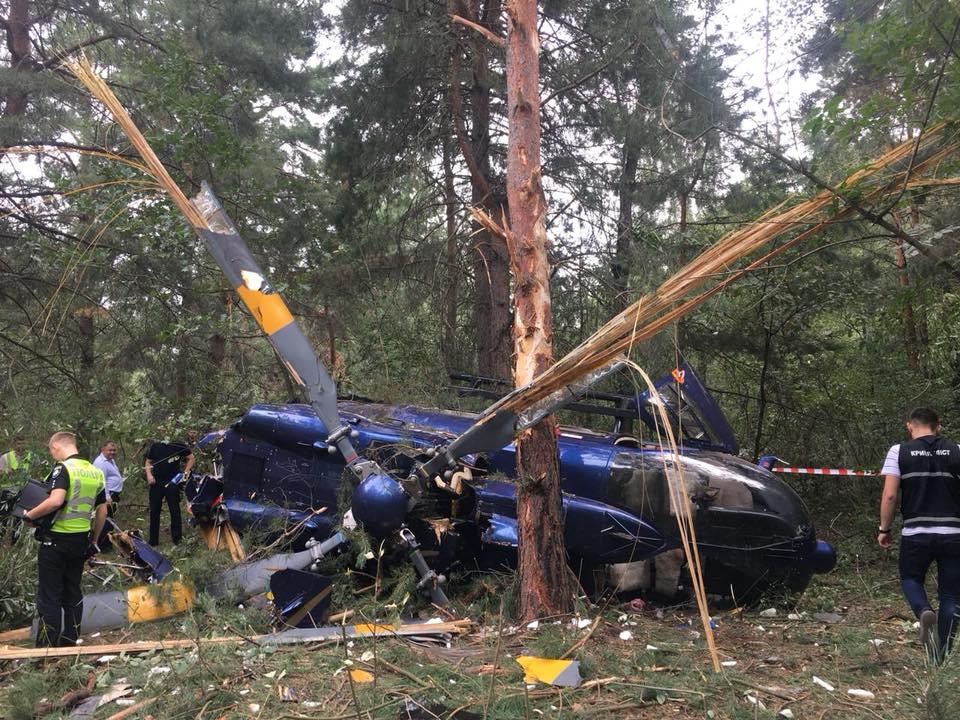 В Киеве разбился вертолет