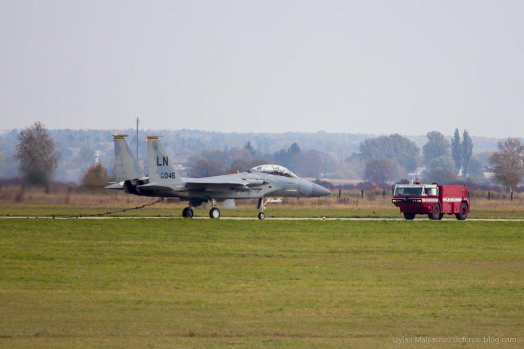 F-15 совершил аварийную посадку во время учений «Чистое Небо»