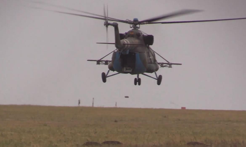 Вертолетчики учились устанавливать минные поля
