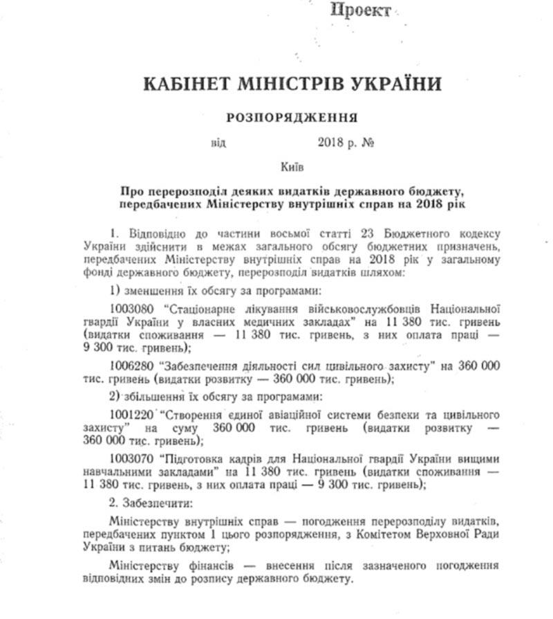 На авиационную систему безопасности МВД в 2019 направят 360 млн грн.