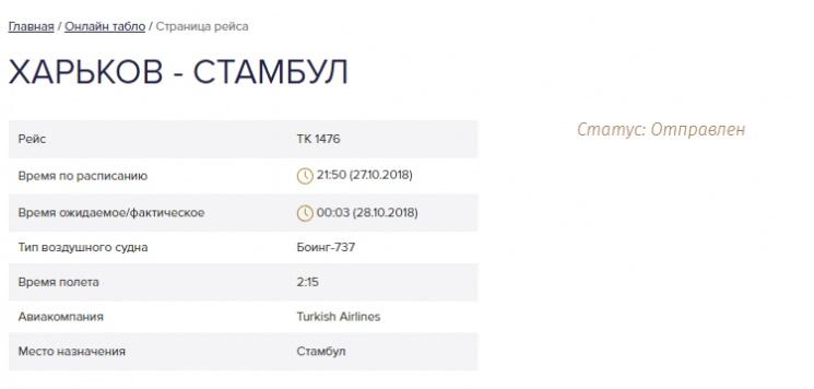 У Turkish Airlines задержки рейсов из Харькова