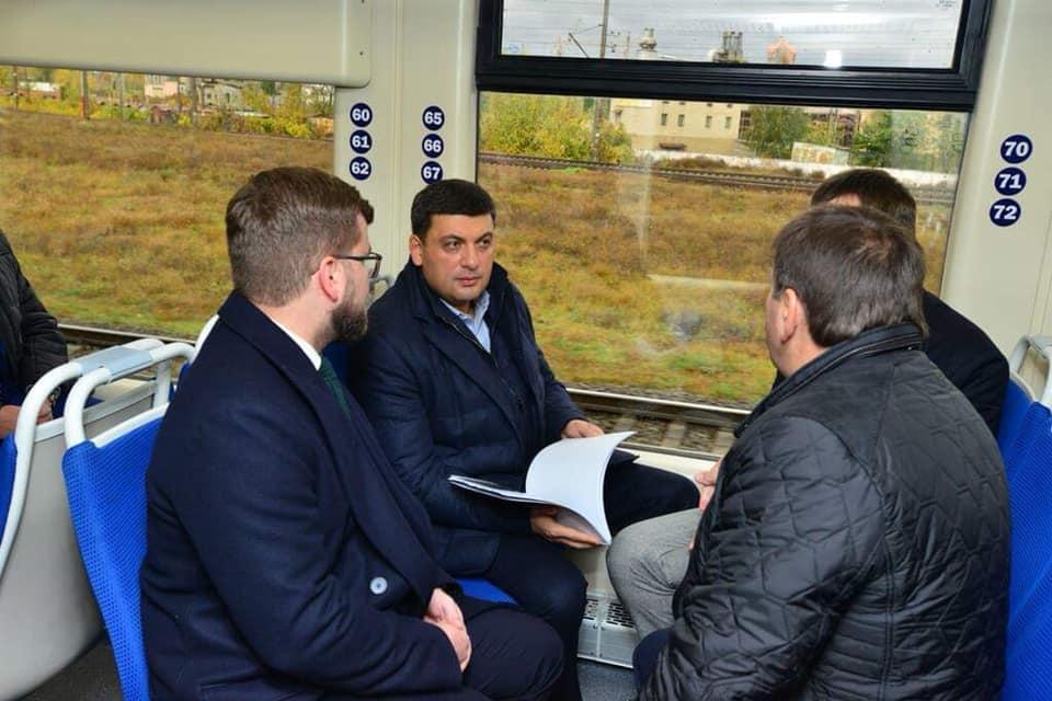 Гройсман протестировал экспресс до аэропорта Борисполь
