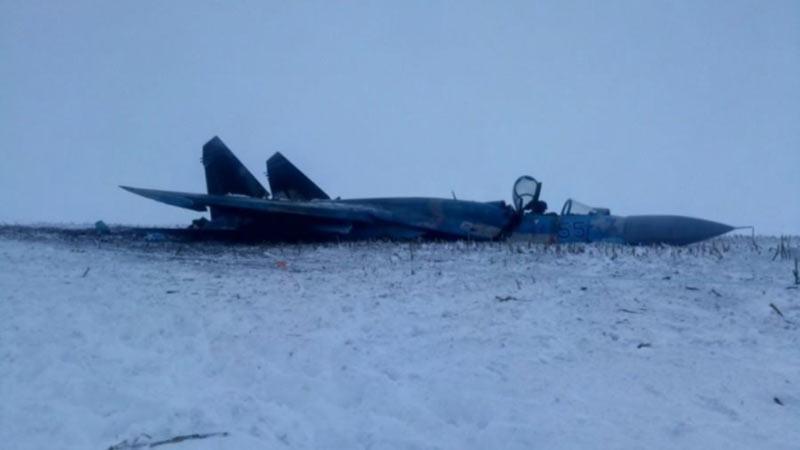 Голландское издание опубликовало фото разбившегося истребителя Су-27