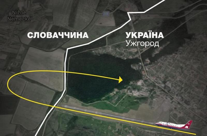 Самолет-лаборатория Украэроруха испытал оборудование в Ужгороде