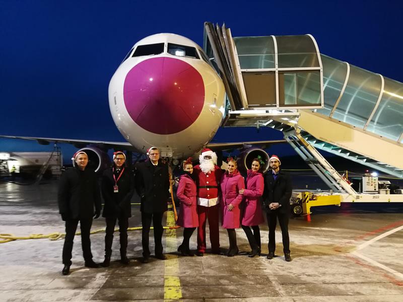 WIZZ AIR устроила настоящий новогодне-рождественский праздник во время рейса