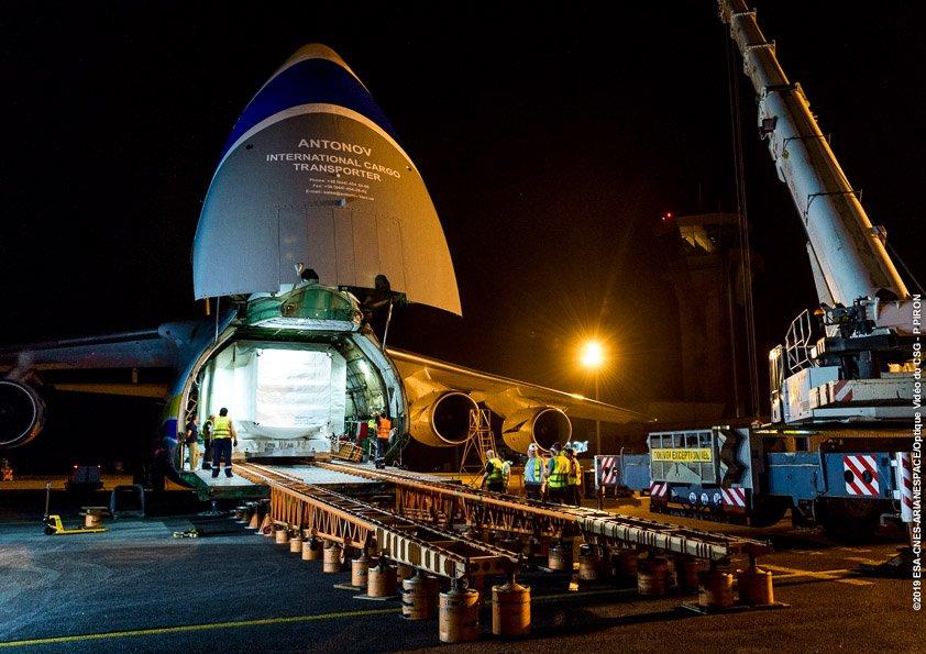 «Авиалинии Антонова» перевезли спутник во Французскую Гвиану