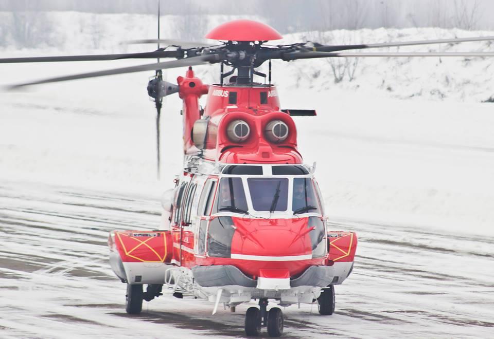 Вертолет H225  ГСЧС приземлился в Ивано-Франковске