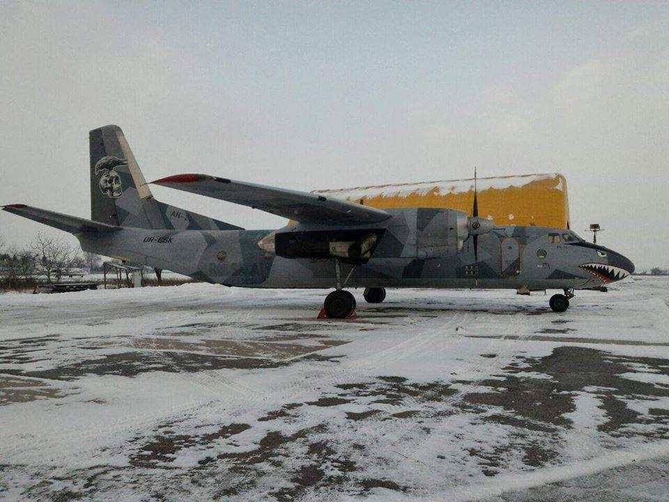 В аэропорту Ровно появился самый известный самолет Ан-26