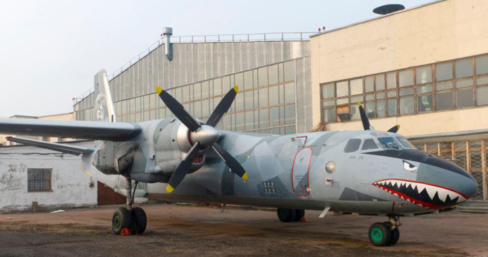 Самолет-акула прилетел в Киев